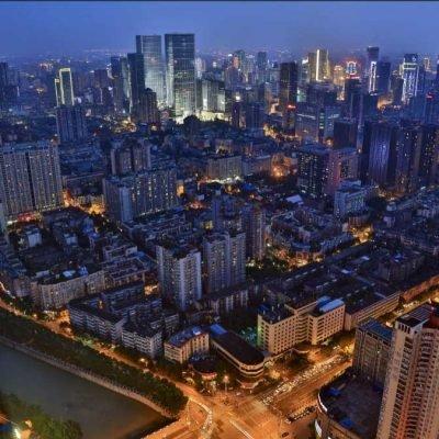Visiting Chengdu - night view